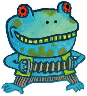 切手サイズの蛙の正体